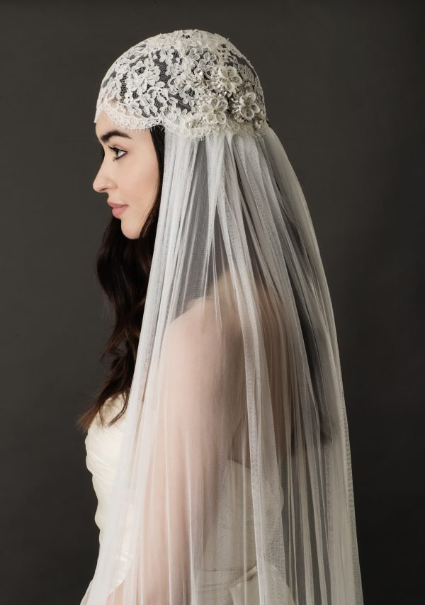 Wedding Skull Cap