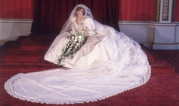 Cathedral wedding veil worn by Lady Diana Spencer Fitzpatricks veils of Ireland