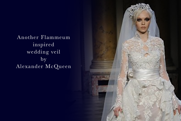 handmade customised wedding veils inspired by Alexander McQueen