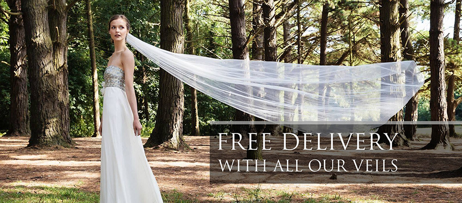 get free delivery on wedding veils from Fitzpatrick Veils